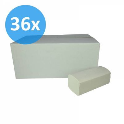 PALLET Vouwhanddoekjes Z-vouw, 2-laags, recycled tissue wit