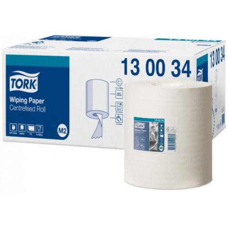 Tork Wiping Centerfeed Poetspapier 165M Wit 1-laags M2