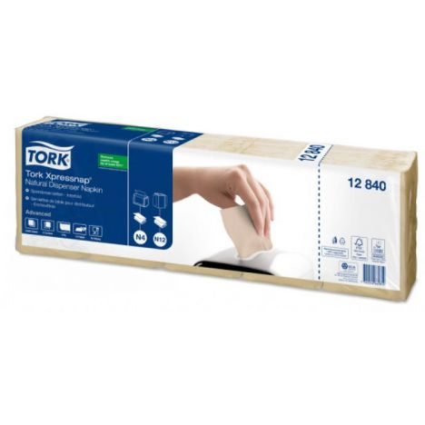Tork Xpressnap® dispenserservet 21,6x33cm 1-laags 1/4-vouw Natural N4 8x1125